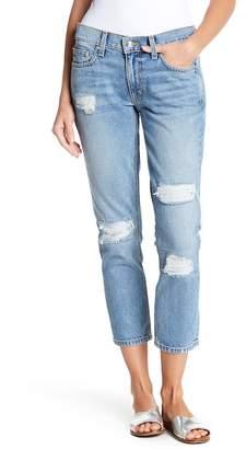 Derek Lam 10 Crosby Denim Mila Mid Rise Slim Distressed Girlfriend Jeans
