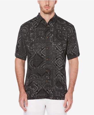 Cubavera Men's Tile Printed Shirt