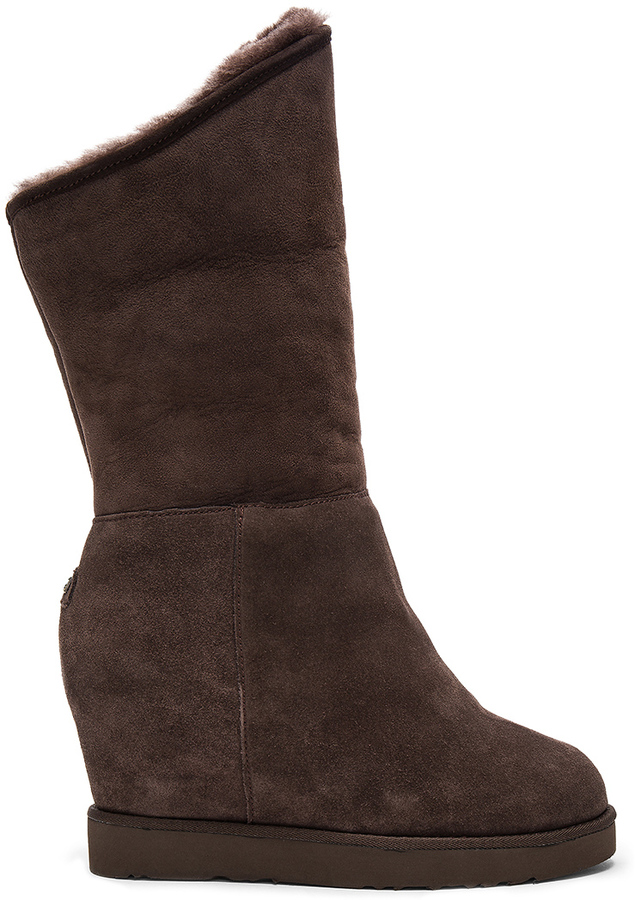 Australia Luxe Collective Australia Luxe Collective Cosy Shearling Lined Tall Wedge Boot