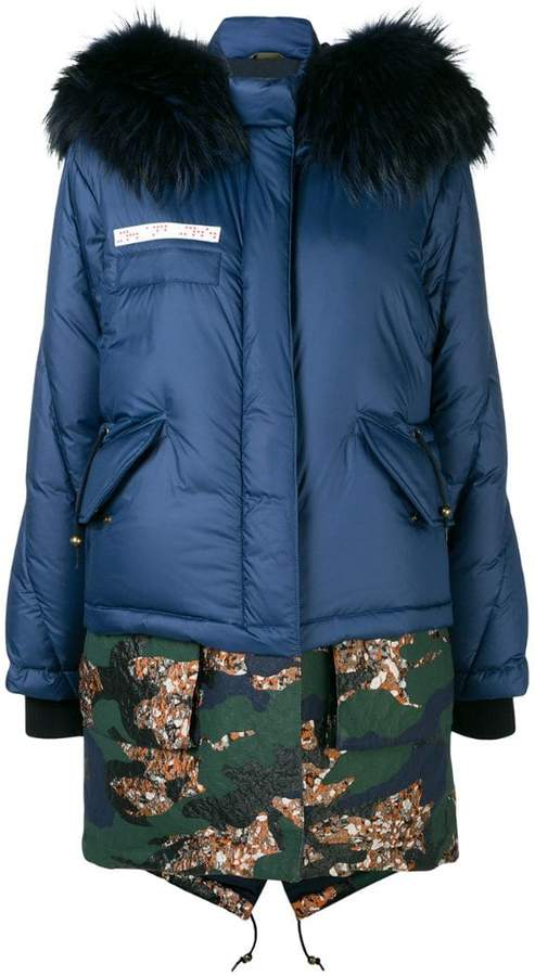 layered puffer jacket