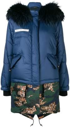 Mr & Mrs Italy layered puffer jacket