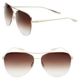 Barton Perreira Men's Chevalier 62MM Aviator Sunglasses - Gold