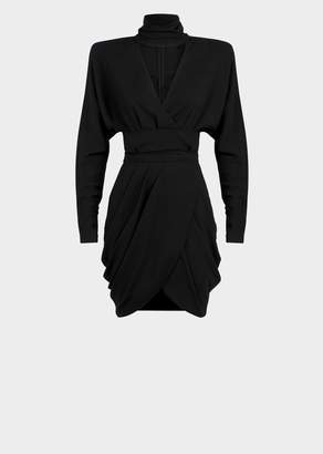 Versace Draped Crêpe Mini Dress