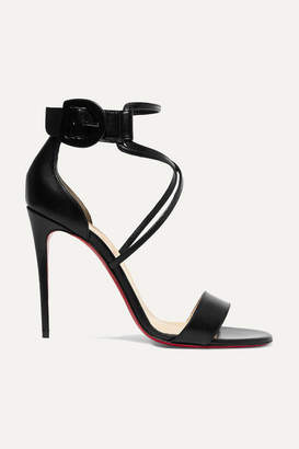 Christian Louboutin Choca 100 Leather Sandals - Black