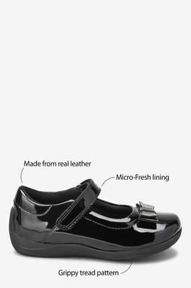 37ec8b06 Next Girls Black Patent Junior Bow Mary Jane Shoes (Older) - Black