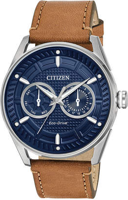 Citizen Drive from Eco-Drive Men Brown Leather Strap Watch 42mm