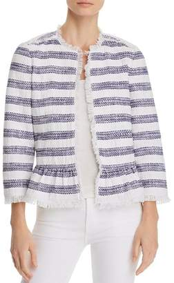 Kate Spade Striped Tweed Jacket