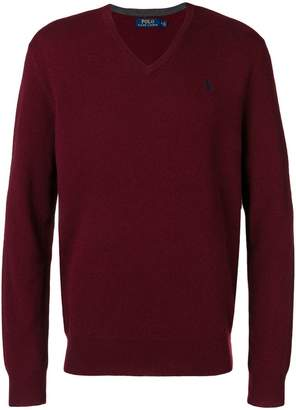Polo Ralph Lauren logo v-neck jumper