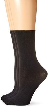 Hot Sox Women's Solid Trouser 3 Pack Sock