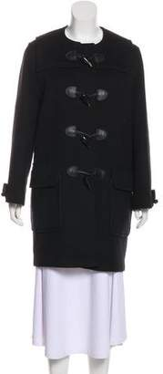 Burberry House Check-Lined Wool Coat