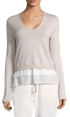 Peserico Tiered Wool-Blend Sweater