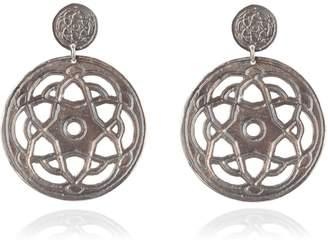 Maro - Oxidised Silver Byzantine Bibi Earrings