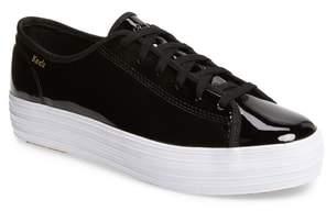 Keds R) Triple Kick Patent Platform Sneaker