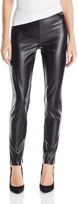 Calvin Klein Women's Essential Power Stretch Pleather Front Legging