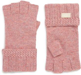 UGG Collection Textured Fingerless Knit Gloves