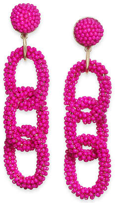 Thalia Sodi Gold-Plated Seed Bead Link Linear Earring, Created for Macy's