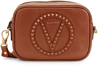 Mario Valentino Valentino By Mia Rock Dollaro Studded Leather Crossbody