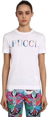 Emilio Pucci (エミリオプッチ) - EMILIO PUCCI コットンジャージーTシャツ