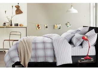 California Design Den Brooklyn Plaid 3-Piece Cotton Duvet Cover Set Grey King