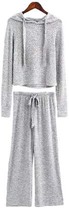 Goodnight Macaroon 'Vania' Cropped Hoodie and Bottoms Loungewear Set (4 Colors)