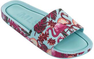Mini Melissa Mel Beach Slide Flamingo Sandal, Kids