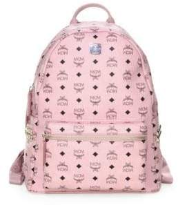 MCM Stark Printed Canvas Backpack