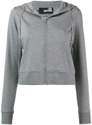 Love Moschino cropped hooded jacket