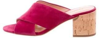 Sigerson Morrison Suede Slide Sandals