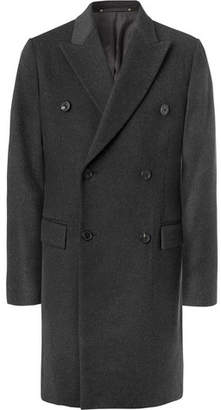 Paul Smith Double-Breasted Wool and Cashmere-Blend Coat - Charcoal