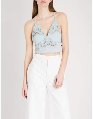 Free People Brami scalloped woven top