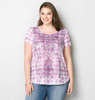 Avenue Tie Dye Scroll Tee