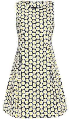 Love Moschino Flared Foral-Print Stretch-Cotton Mini Dress