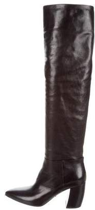 Prada 2017 Leather Over-The-Knee Boots w/ Tags cheap sale low shipping Boxjf