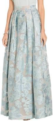St. John Organza Lamé Floral Fil Coupé Gown Skirt