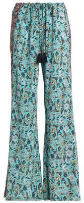 Figue Floral-Print Silk Crepe De Chine Wide-Leg Pants