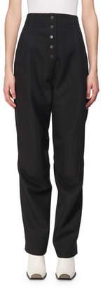 Stella McCartney Fantine Wool High-Waist Trousers
