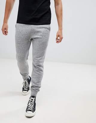 Hollister core icon logo cuffed jogger in gray marl