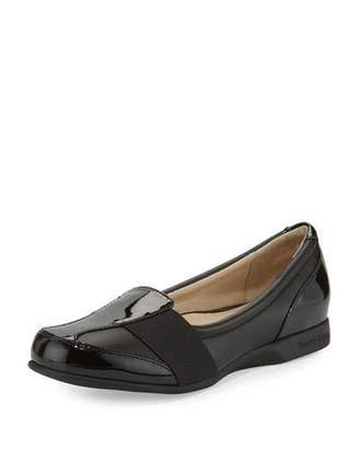 Taryn Rose Taurus Leather Slip-On Sneaker, Black $230 thestylecure.com