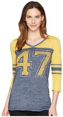 Wrangler 3/4 Sleeve Baseball Tee Shirt Women's Clothing
