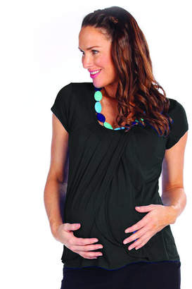 Angel Maternity Petal Front Maternity And Breastfeeding Top