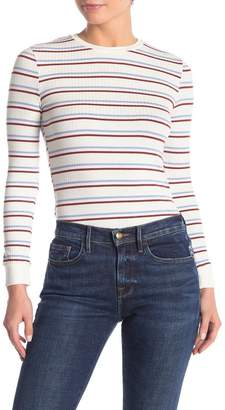 Frame 70s Striped Rib Long Sleeve Top