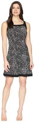 Chaps Print Jersey Dress Women's Dress