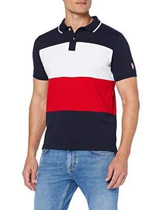 caf5b4b46 Tommy Hilfiger Men's ICON Colorblock Slim Polo Shirt, Mehrfarbig (Sky  Captain/Multi 902