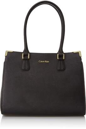 Calvin Klein Saffiano Satchel Shoulder Bag