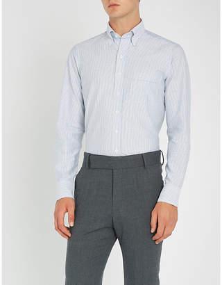Drakes Bengal striped slim-fit cotton oxford shirt