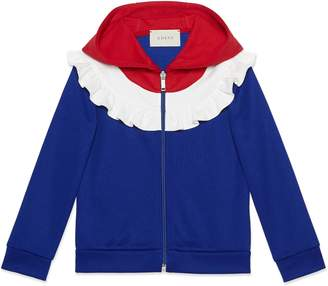 Gucci Children's technical jersey hooded sweatshirt