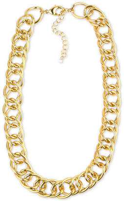 """Charter Club Gold-Tone Open Link Collar Necklace, 18"""" + 3"""" extender, Created for Macy's"""