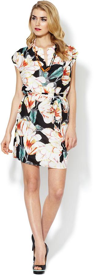 Corey Lynn Calter Victoria Printed Tie Dress