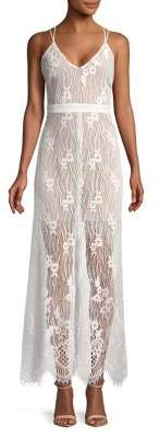 WAYF Floral Lace Strappy Dress