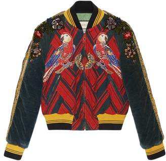 Embroidered corduroy bomber jacket $9,950 thestylecure.com